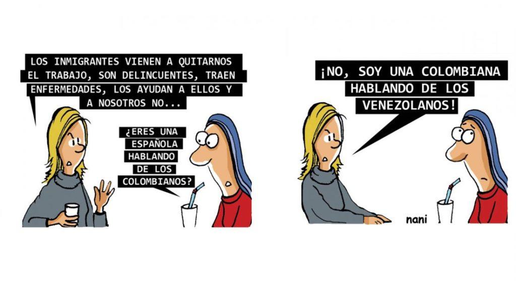 Caricatura de Adriana Mosquera (Nani) en la columna Magola